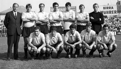 Colonna della difesa Juventina dei primi anni 50, Sergio Manente siede poi in panchina coi Grigi dal 1969 al 1071. Per il tecnico, nato a Udine il 10 dicembre 1924, l'opportunità di plasmare un gruppo che appena due anni dopo avrebbe vinto la prima Coppa Italia Semipro.