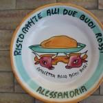 """Piatto ricordo Ristorante """"Alli Due Buoi Rossi"""""""