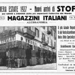 1927 – Pubblicità d'epoca – Magazzini Italiani – Via Migliara
