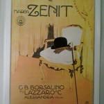 Manifesto marchio Zenit G.B. Borsalino fu Lazzaro al museo Borsalino di Pecetto