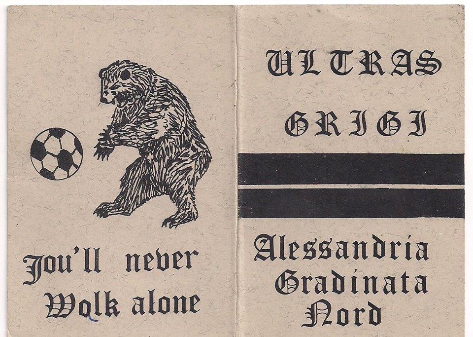 Ultras Grigi 1981-82- tessera del gruppo.....