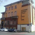 Ex Casa del Mutilato con dentro ancora pregevoli opere.