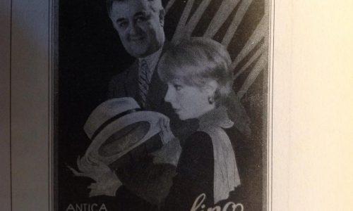 """Un'inedito Ugo Boccassi nelle vesti di modello per una """"datata"""" pubblicità del cappello Borsalino."""