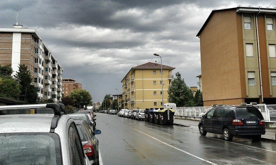 Alessandria - Il cielo sul quartiere Galimberti