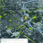 Cartina inglese del bombardamento di Alessandria, obiettivo ponte sul Tanaro