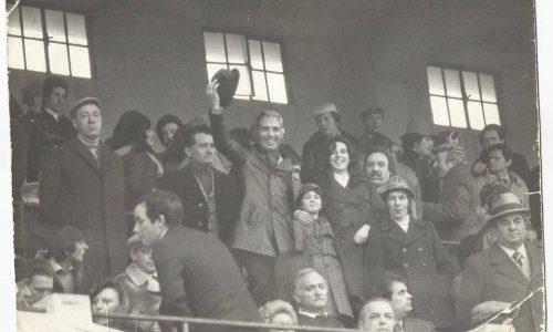 Cesare Giancarlo Ferrando  1973 stadio moccagatta con papà, sorella e zio luciano .foto rabachin . penso partita con parma ,eravamo 17 mila ……bei tempi