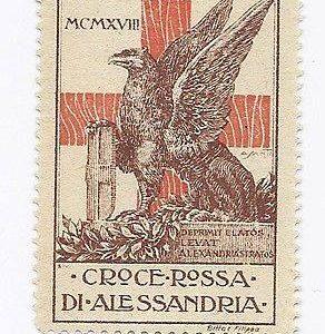 Francobollo dedicato alla Croce Rossa di Alessandria