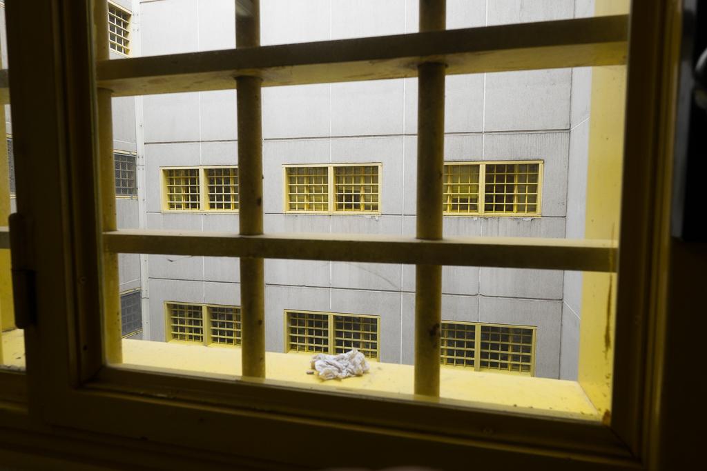 Un particolare della vista che si ha a disposizione lungo i corridoi dell'istituto.