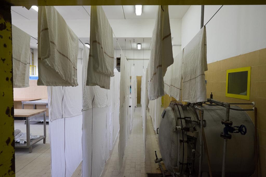 Le lenzuola appese ad asciugare