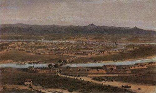 Antica stampa di Alessandria