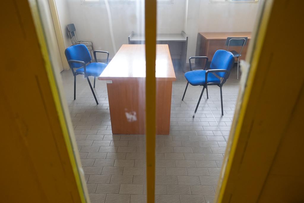 Uno degli spazi dedicato al colloqui fra gli operatori e i detenuti