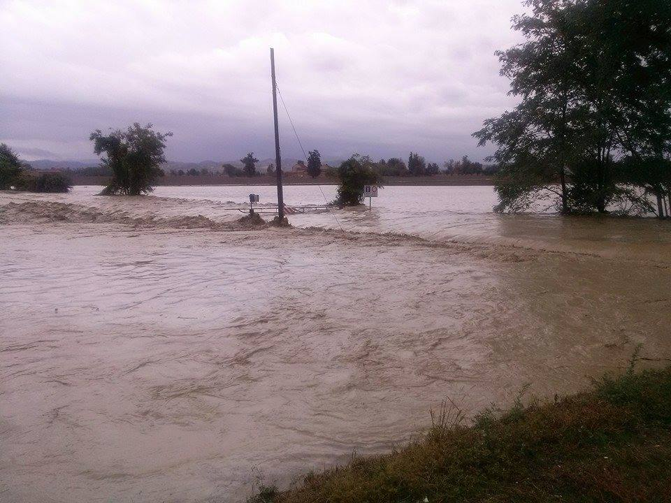 Esondazione del Grue a Pontecurone
