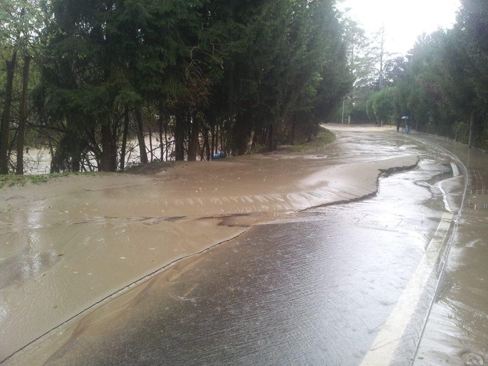 La strada verso Cassano Spinola passata la piena