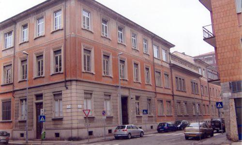 Scuole Elementari, erano intitolate a Rosa Maltoni Mussolini, ora intitolate a Galileo Galilei.