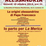 Io parto per La Merica – Alessandria 10 Ottobre 2014 – ore 21presso La Buvette di Palazzo Monferrato