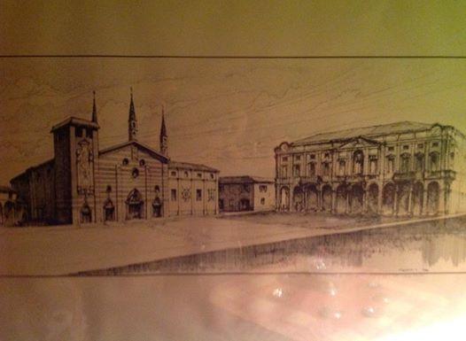 Una bella immagine dell'Alessandria che fu, eseguita da Luigi Visconti