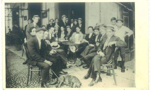 ALESSANDRIA anno 1914 Caffe' Ristorante Roma Largo Piazza Vittorio Emanuele (detta Rattazzi) ora P.zza Libertà
