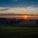 Alba su Alessandria vista da Castelletto Monferrato