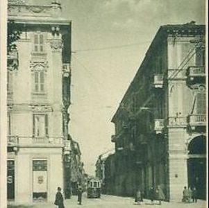 Alessandria – Corso Roma angolo Piazza Garibaldi con tram