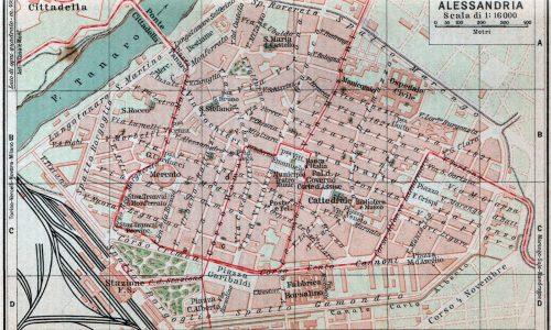 Mappe della rete tranviaria urbana di Alessandria