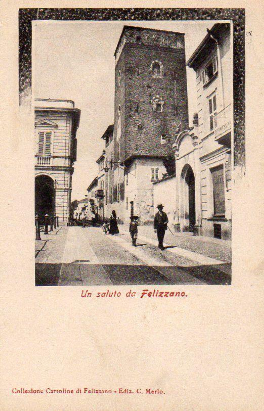 Felizzano, Alessandria - Viaggiata 1909