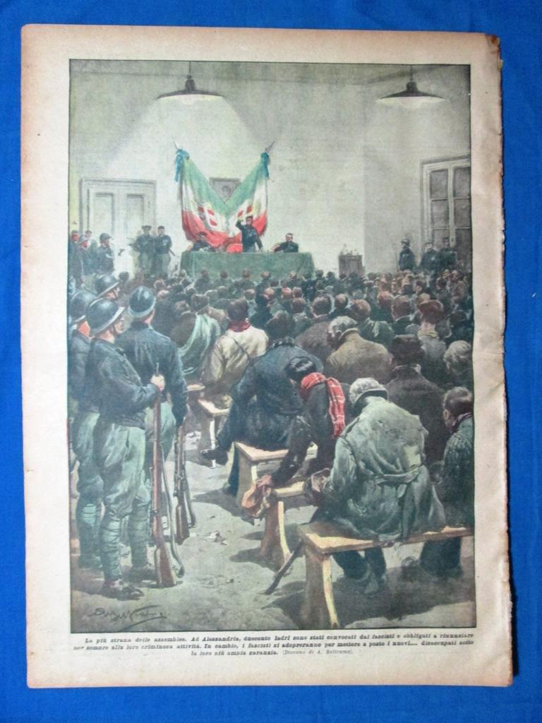 Ad Alessandria la più strana delle assemblee,i fascisti obbligano duecento ladri a rinunciare alle loro attività in cambio di ampie garanzie.