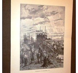 La fondazione di Alessandria nel 1168 Incisione di L.Pogliaghi