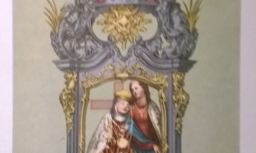 Stampa primi '900 della Madonna della Salve di Alessandria