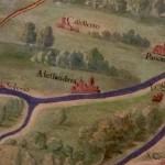 Mappa antica della città di Alessandria e paesi limitrofi