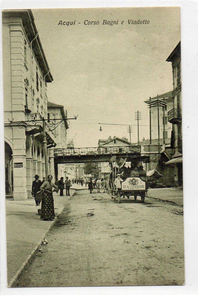 Acqui Terme - Corso Bagni con viadotto