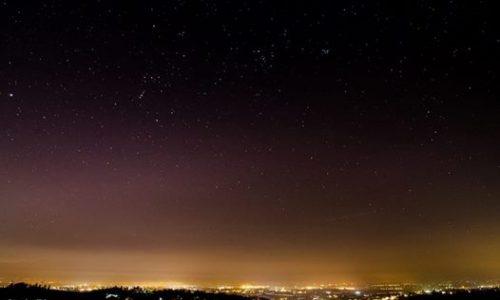 Notturno dalle alture di Alessandria sopra valle San Bartolomeo con vista su Alessandria ….