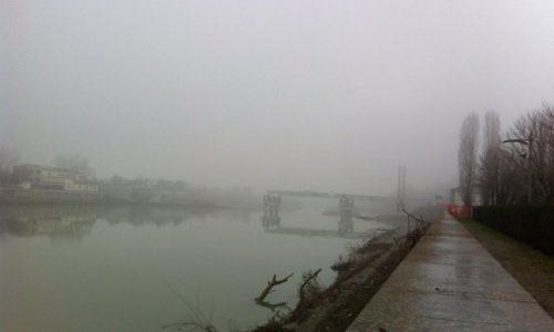 18 gennaio 2015 –  La nebbia di prima mattina sul Tanaro