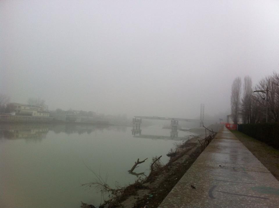 18 gennaio 2015          La nebbia di prima mattina sul Tanaro