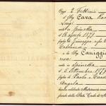 Certificato di matrimonio del 1901
