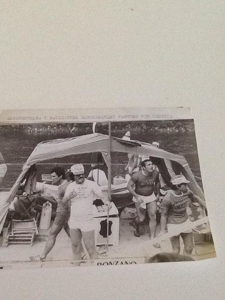 Partenza da Alessandria con la zattera ...Tanaro destinazione Venezia  - fine anni '70