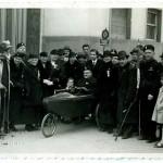 Uomo in carrozzella – Palazzo del Littorio