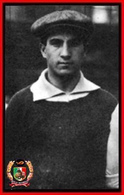 Porrati con la maglia dell'Alessandria, stagione 1919-20