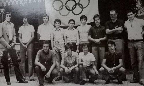 PREMIAZIONE GIOCHI DELLA GIOVENTU' 1974..VOLLEY AVBC..AL C.V.A.