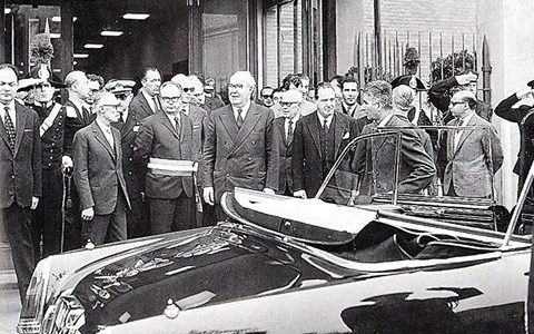1967 – Il Presidente della Repubblica di allora, Giuseppe Saragat all'inaugurazione del ITIS Volta in Alessandria.