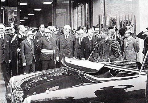 1967 - Il Presidente della Repubblica di allora, Giuseppe Saragat all'inaugurazione del ITIS Volta in Alessandria.