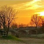 Tramonto sul ponte Bormida