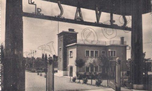"""Circolo Ricreativo """"Saves"""" –  Borgo Cittadella e attualmente sede del Dopolavoro della Cassa di Risparmio di Alessandria."""