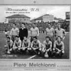 U.S. Alessandria – Pubblicità Melchionni stagione 1957-'58.