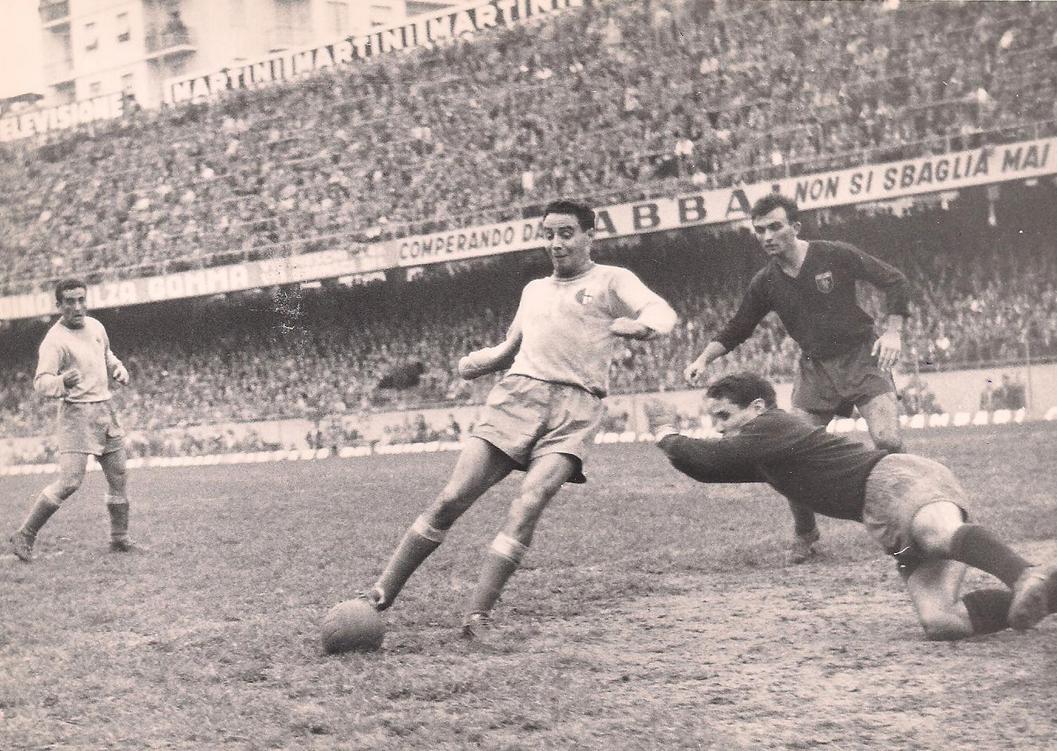Genoa-Alessandria 0-2 campionato 1957-'58. Doppietta per Vonlanthen.