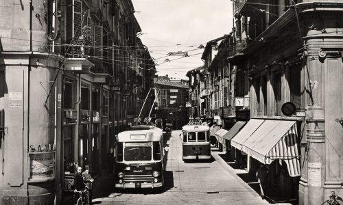 La rete filoviaria in Alessandria – 1952