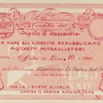 1943 – Sottoscrizione di 10 Lire per dare all'esercito repubblicano moschetti mitragliatori