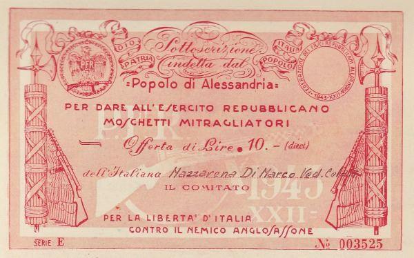 L'inventore della sottoscrizione fu EDOARDO PANTANO, capo Ufficio Stampa della Federazione Fascista Repubblicana,