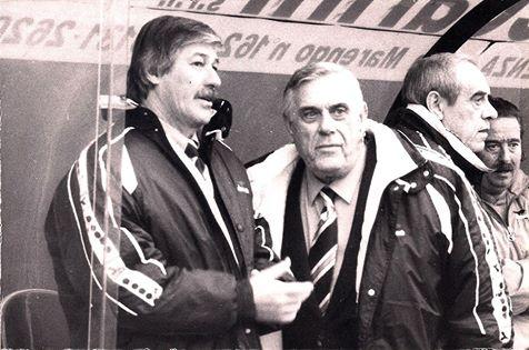 U.S. Alessandria 1996: in panchina Ferrari, Gatti, Baucia e Pescolla.