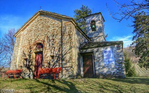 """Chiesa campestre Romanica XII sec. """"S. Nazario e Celso"""". Ovrano colline Acqui Terme. Foto Carlo Martinati"""