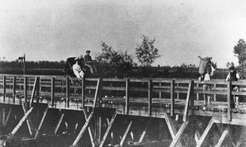 Ponte di legno sul Bormida